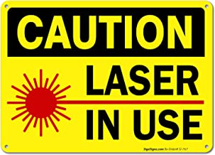 laser in use sign free