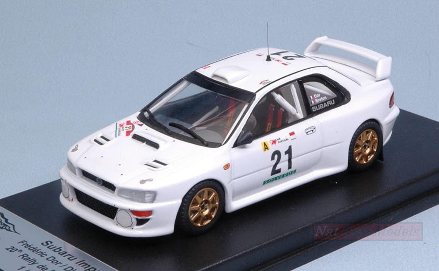 Trofeu TFRRAL60 Subaru Impreza WRC 20th Rtuttiy of Portugal 1999 DOR-Breton 1 43 Compatibile con