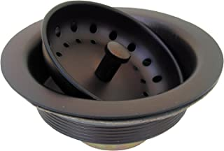 LASCO 03-1065 Kitchen Sink Post Type Basket Strainer Duo Locknut Style with Stainless Steel Body, Oil Rubbed Bronze Finish