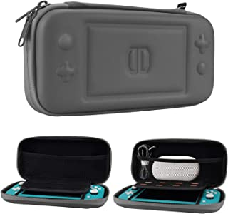 CoBak Carrying Case for Nintendo Switch Lite - Ultra Slim Premium EVA Travel Pouch Protective Cover, 8 Game Cartridges, Gray