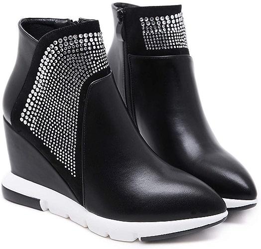 HBDLH Chaussures pour femmes 9Cm Talon Haut Martin Bottes Pointues épaisses Bottes Mode Unique en Talons noir Trente - Six