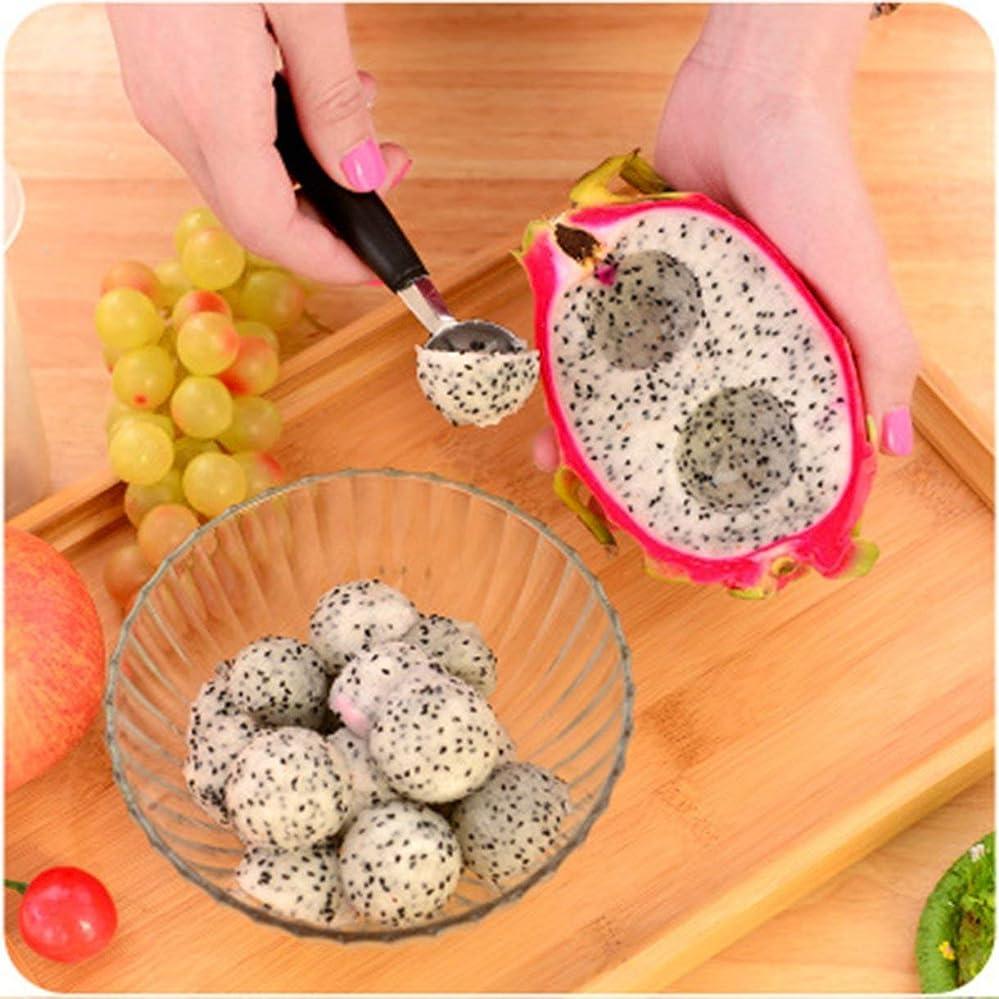 ジョグ一致するパン屋Qinkingstore クリエイティブホームミニフルーツボールスプーンアイスクリームスプーンメロンスプーンステンレス鋼/プラスチック多機能キッチンツール