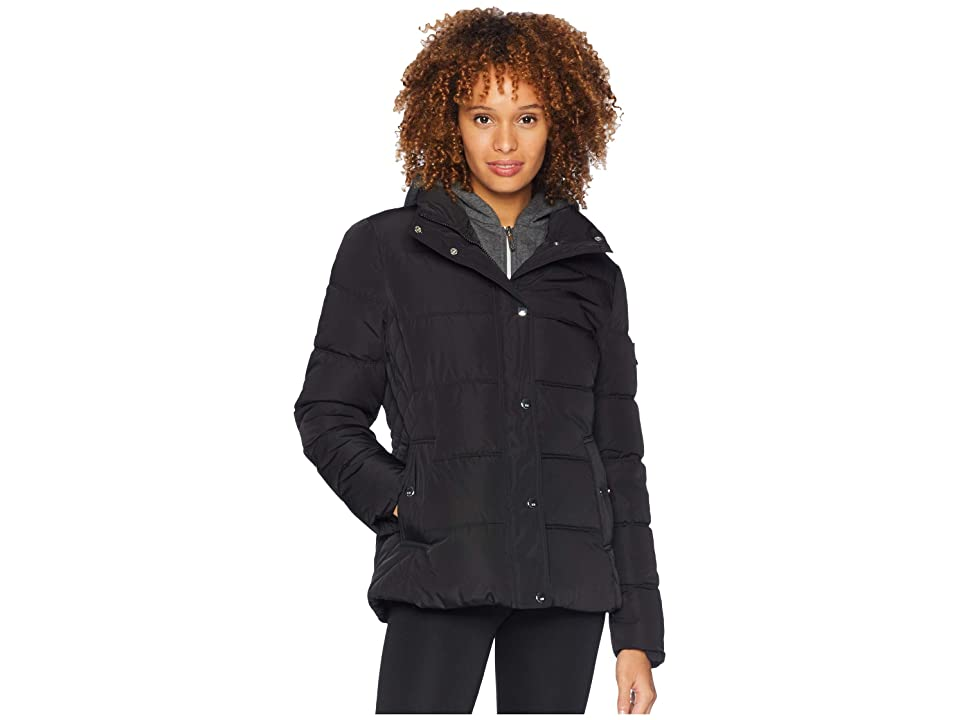 Tommy Hilfiger 25 Puffer w/ Hooded Vestie (Black) Women