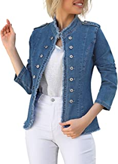 Sponsored Ad - luvamia Women's Open Front Long Sleeves Work Blazer Casual Buttons Jacket Suit