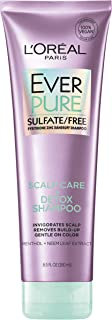 L�Oreal Paris Everpure Sulfate Free Scalp Care + Detox Shampoo, with Menthol + Neem Leaf Extract, for Deep Cleanse, Vegan, No parabens, dyes or gluten