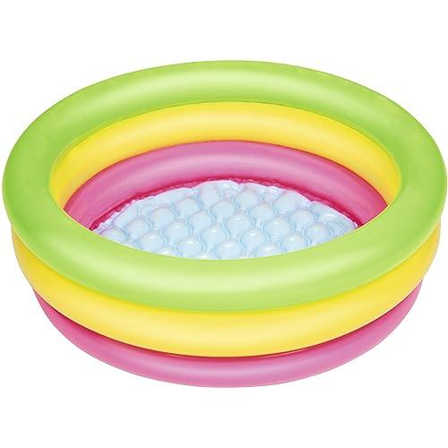 Bestway 51128, Piscina hinchable redonda con alfombra para niños (70 x 70 x 24