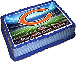 Chicago Bears NFL Personalized Cake Topper Icing Sugar Paper 1/4 8.5 x 11.5 Inches Sheet Edible Frosting Photo Birthday Cake Topper (Best Quality Printing)