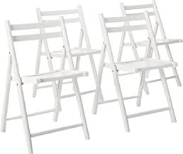 Winsome 10415 Robin 4-PC Folding Set White Chair
