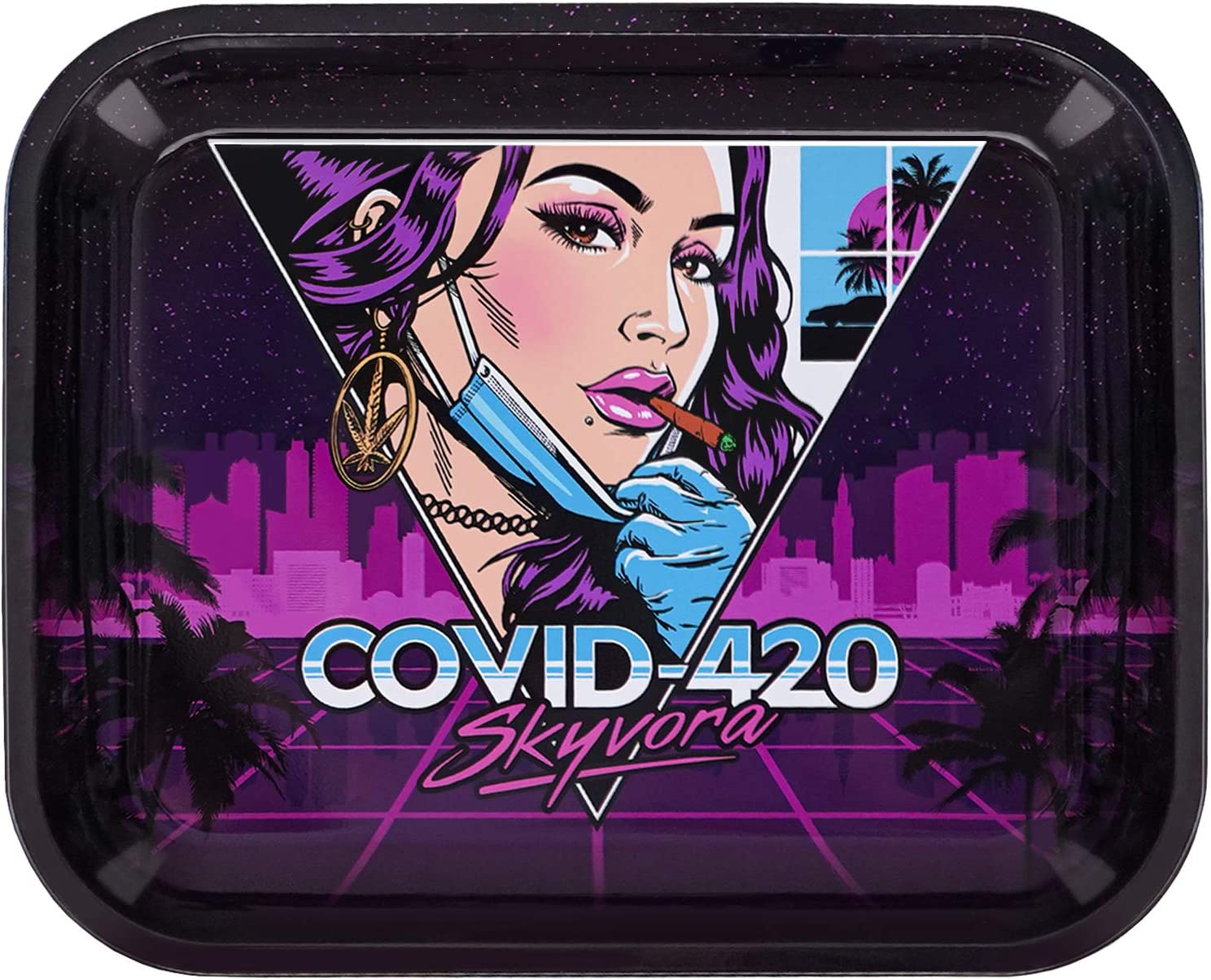 Skyvora Metal Rolling Tray - 420 Design Limited time for free shipping 14 11 Large x low-pricing