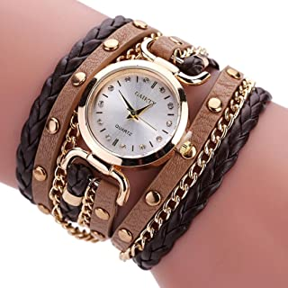 Watch for Women, Paymenow Ladies Student Retro Boho Twist Rivet Bracelet Quartz Analog Wrist Watches