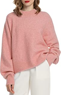 Women Lightweight Sweater Mock Neck Long Sleeve Sweaters Pullover Fall Loose Casual Tops Winter Crop Oversized