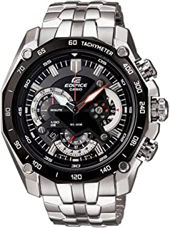 Casio Men's Edifice Black Dial Multi Function Stainless Steel Band Watch [EF-550D-1A], Analog