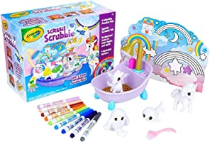 CRAYOLA 747346 Scribble Scrubbie, Peculiar Pets Play Set, Perfect Gift for Kids, Includes 4 Pet Figurines, Colour &...