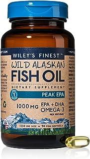 Sponsored Ad - Wiley's Finest Wild Alaskan Fish Oil - 3X Triple Strength Peak EPA DHA, 1000mg Omega-3s, NSF-Certified, 90 ...