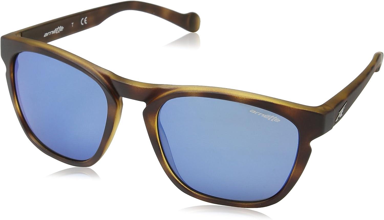 Arnette  GROOVE AN42032152 55 Sunglasses FUZZY HAVANA Frame w blueE MIRROR
