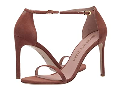 Stuart Weitzman Nudistsong Ankle Strap Sandal (Cappuccino Suede) Women