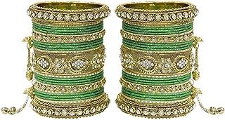 اساور متعددة الالوان عصرية بوليوود هندية رائعة للنساء من ماتش مور مناسبة كحلي للحفلات