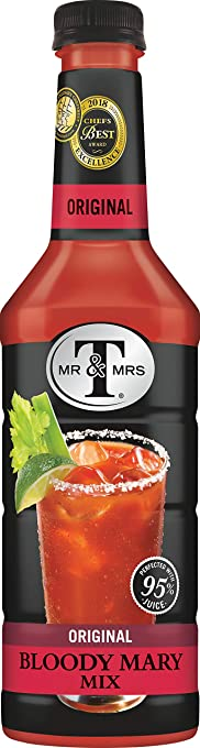 Mr & Mrs T Original Bloody Mary Mix, 33.8 Fl Oz, Pack of 6