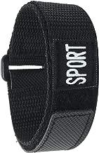 Bandini Nylon Sports Watch Band Strap - Black - 20mm, 22mm, 24mm, 26mm, 12mm, 14mm, 18mm - Hook Loop & Fastening - Waterproof