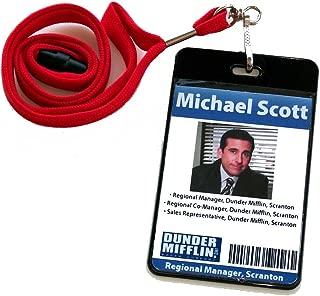 The Office TV show Michael Scott Dunder Mifflin official ID Badge prop