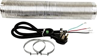 Whirlpool W10182830RB Dryer Installation Kit with 4-Feet Dryer Power Cord, 4 Wire, 8-Feet Vent and 2 Clamps