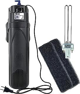 coospider水槽フィルター アクアテラリウムフィルター 多機能化UVランプ オートフィルター 水中殺菌灯付き タンクに直接入れて使用適用範囲:180~360リットルの水槽JUP01