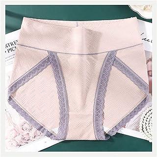 3 قطع XL~6XL سراويل داخلية قطنية صلبة عالية الخصر للنساء ملابس داخلية مسامية زائد حجم الدانتيل ملابس داخلية الإناث (اللون:...