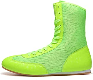 FJJLOVE Wrestling Shoes, Breathable Boxing Boots Lightweight Non-Slip Wrestling Sneaker Rubber Sole Boxers Shoe for Kids C...