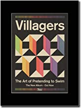 gasolinerainbows - Villagers - The Art of Pretending to Swim - Matted Mounted Magazine Promotional Artwork on a Black Mount