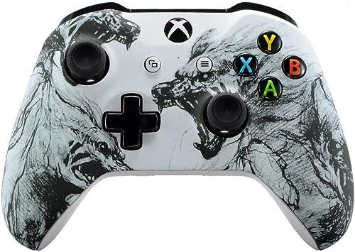 eXtremeRate Coque Avant,Boîtier Housse de Remplacement pour Xbox One X/S Manette Contrôleur(Modèle 1708)-Âme de Loup