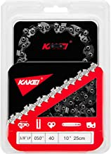 """KAKEI Chainsaw Chain 10-Inch.050 Gauge, 3/8"""" LP Pitch, 40 Drive Links Fits Craftsman/Sears, Poulan, Remington, Earthwise, ..."""