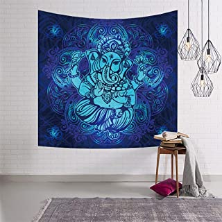 RYYAIYL Hippie Style Wall Tapestry Elephant Divine Tapestries Wall Mandala Tapestry Wall Hanging Art for Living Room Bedroom Dorm Home Decor Wall Hanging Blanket (Size : 59.1x51.2in)