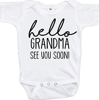 Pregnancy Announcement Onepiece - Hello Grandma White