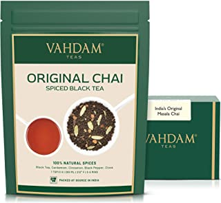 Sponsored Ad - VAHDAM, India's Original Masala Chai Tea Loose Leaf | 50 cups, 3.53 oz - Blend of Black Tea, Cinnamon, Card...