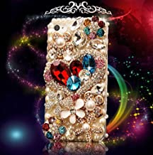 LU2000 iPhone 7+ Case, 3D Crystals Diamond Sparkle Bedazzled Jeweled [Heart Shape Series] Bling Phone Snap-on Hard Case for iPhone 7+ / 7 Plus (5.5 inch) AT&T Verizon & Sprint T-Mobile All Carriers