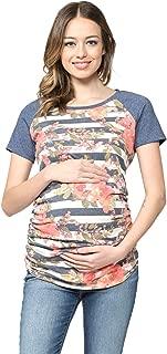 Women's Maternity T-Shirts Top with Baseball Raglan