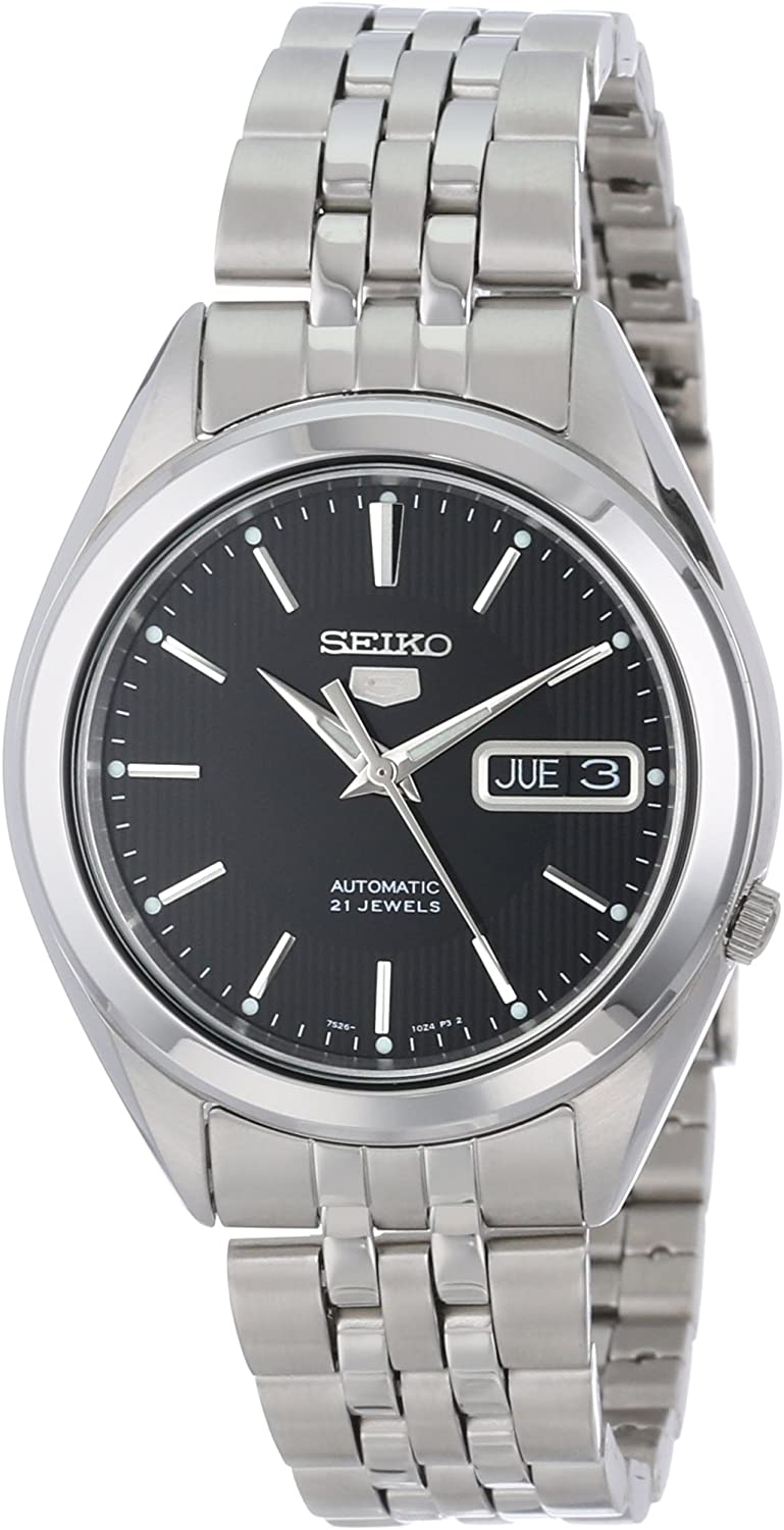 Amazon.com: SEIKO 5 Men's SNKL23 Stainless Steel Automatic Casual Watch :  Seiko: Clothing, Shoes & Jewelry