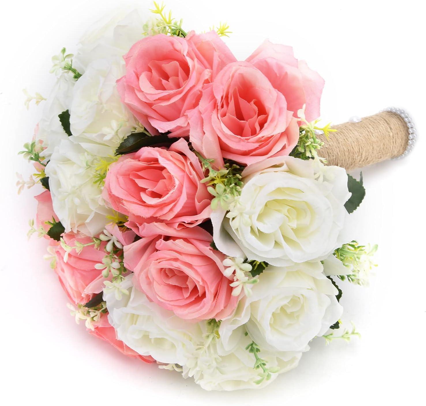 Luroze Fake Flowers Decoration Artificial F Bouquet Silk Our shop OFFers the best service Large discharge sale Bridal
