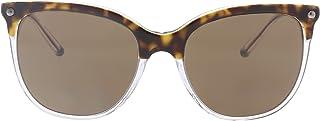 نظارة شمسية للنساء 0DG4333 من راي بان، لون بني (جزء علوي هافانا وسفلي شفاف)، 55 (0DG4333 757/73)