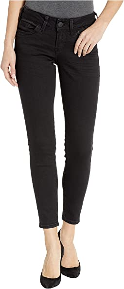 Suki Mid-Rise Perfectly Curvy Ankle Skinny Jeans in Black