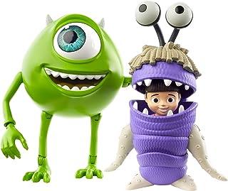 Disney Pixar Monstres et Cie, figurines articulées Bob Razowski et Bouh pour rejouer les scènes du film, jouet pour enfan...