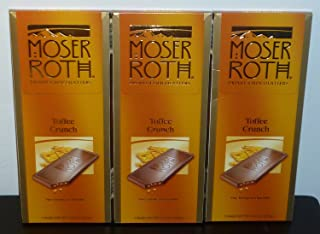 Moser Roth Fine German European Chocolate Toffee Crunch (3 Pack)