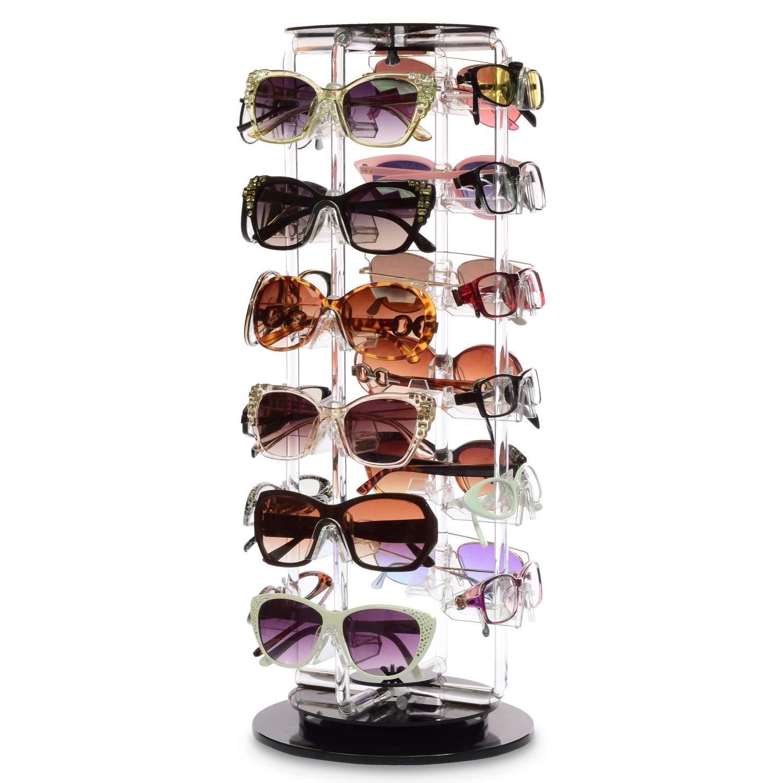 MOOCA Acrylic Ranking TOP20 Rotating Sunglasses Eyewear F Display It is very popular 24 Holder