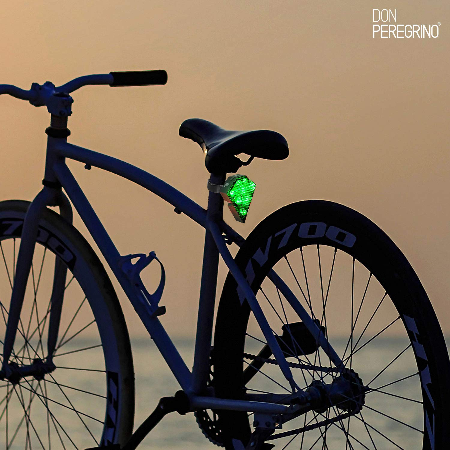 DONPEREGRINO R3 - Led Luz Trasera Bici Potente con Carril Virtual ...