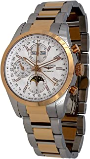Longines Conquest Classic Automatic Moonphase Steel & 18k Rose Gold Mens Watch L2.798.5.72.7