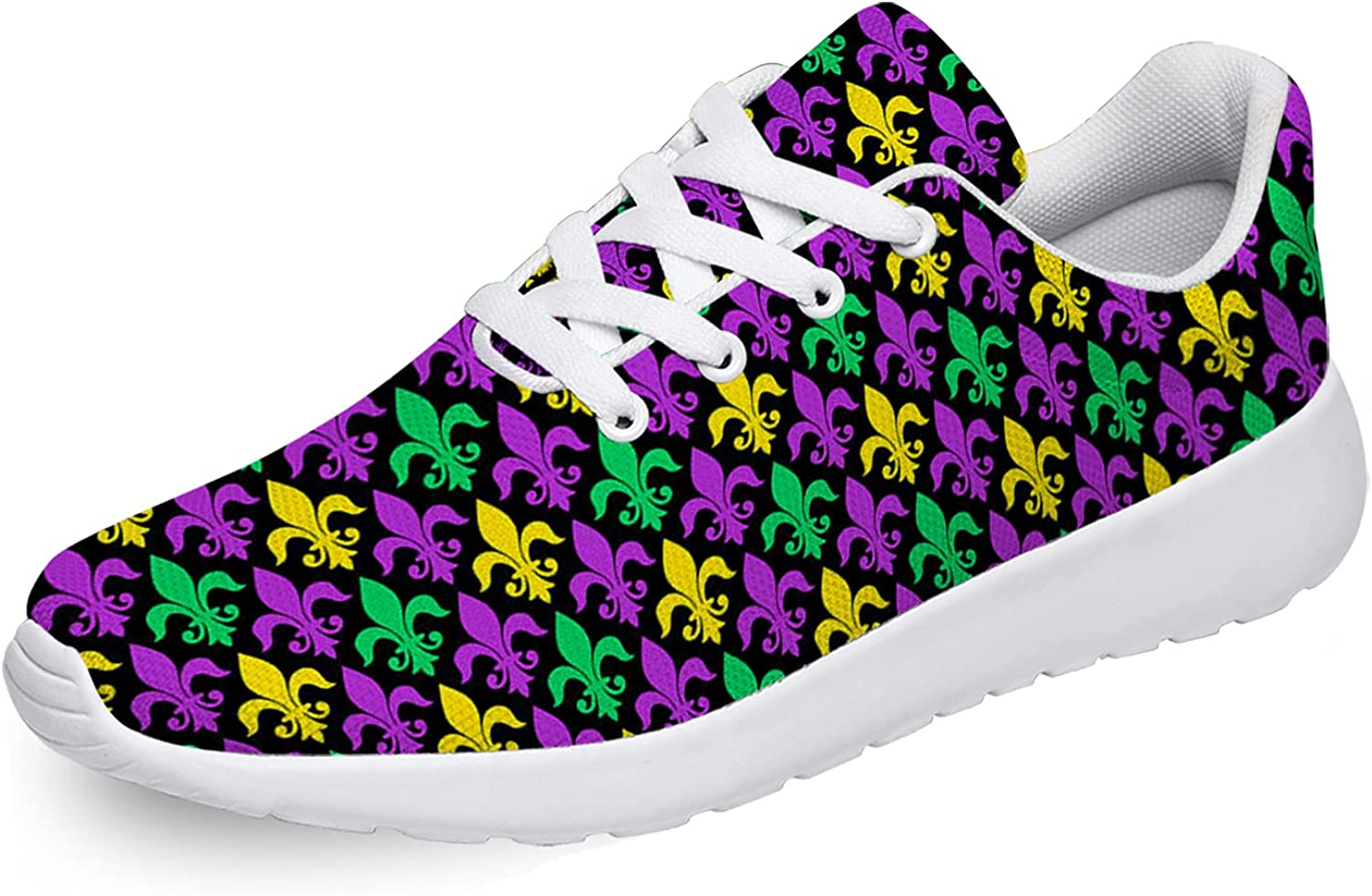 Mardi Max 75% OFF Gras Shoes for Men Breathable Lightweight Cas Opening large release sale Women Custom