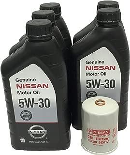 Genuine Nissan 5W-30 Oil Change Kit 5 Quarts 15208-9E01A