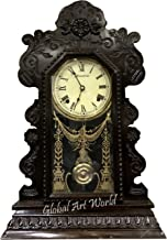 Global Art World Ansonia Gingerbread Elegant Wind Up Vintage England Watch Old Wooden Art Clocks Collectible Beautifully Designed Home And Wall Décor Antique Pendulum Wall Clock HB 0201