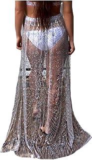 Unastar Women's Skirt See Through Fashion Tunic Cover up Beach Dress