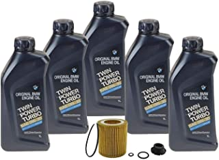 Genuine 0W-30 Twin Power Turbo 5 Liter Oil Change Kit For BMW